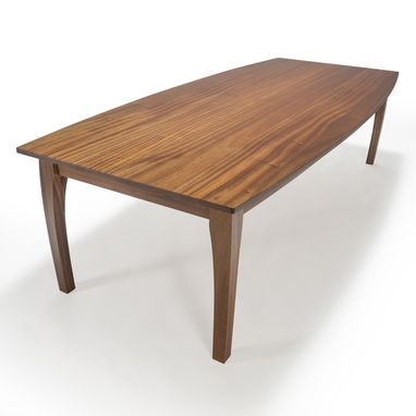 Custom Made Dining Table, Oval Dining Table, Solid Wood Dining Table, Mahogany, Boat Shape Top