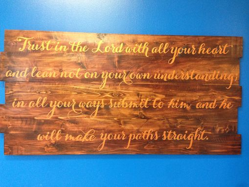 Custom Made Scripture Sign