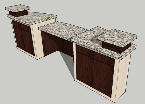 Custom Made 10' Twin Tower Welcome Desk