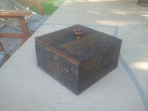 Custom Made Small Wooden Storage Box