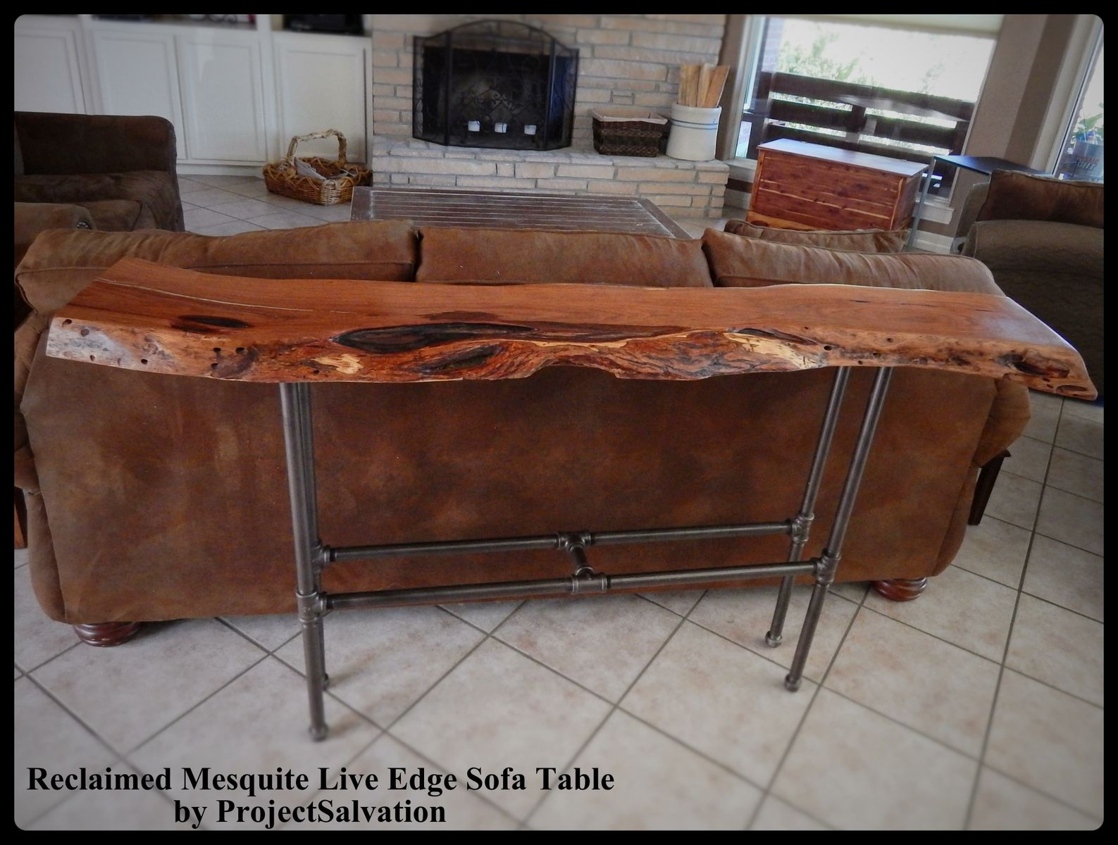 Buy A Hand Crafted Live Edge Mesquite Sofa Table Made To Order From Project Salvation