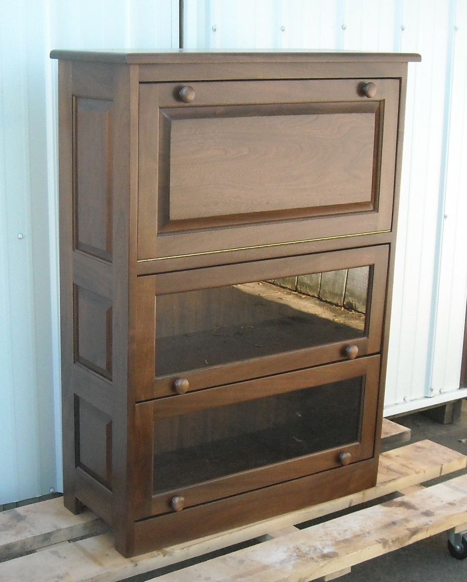 Hand Made Barrister Bookcase Drop Front Computer Desk By