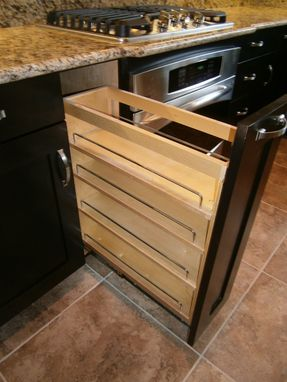 Custom Made Maple Kitchen Cabinets, Espresso Stain, Solid 3/4 Plywood Boxes
