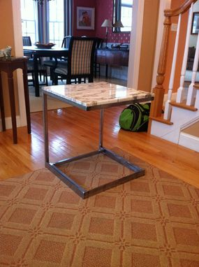 Custom Made Marble Or Granite End Table