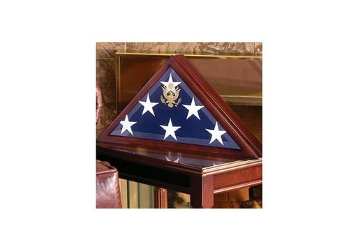 Custom Made Burial Display Flag, Large Coffin Flag Display Case