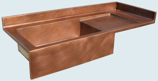 Custom Made Copper Sink With Drainboard & Backsplash