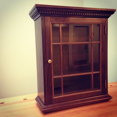 Custom Made Hanging Wall Cabinet In Walnut