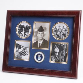 Custom Made U.S. Air Force Medallion 5 Picture Collage Frame