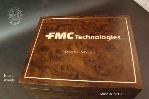 Custom Made Handcrafted Humidor For Corporate Gift Giving.