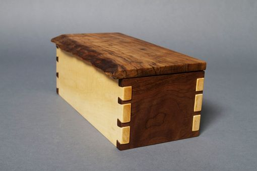 Custom Made Walnut And Maple Box