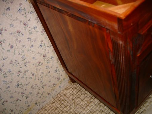Custom Made African Mahogany Vanity