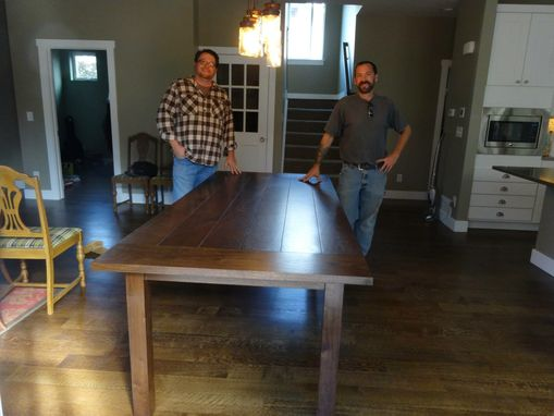 Custom Made Walnut Farmhouse Table