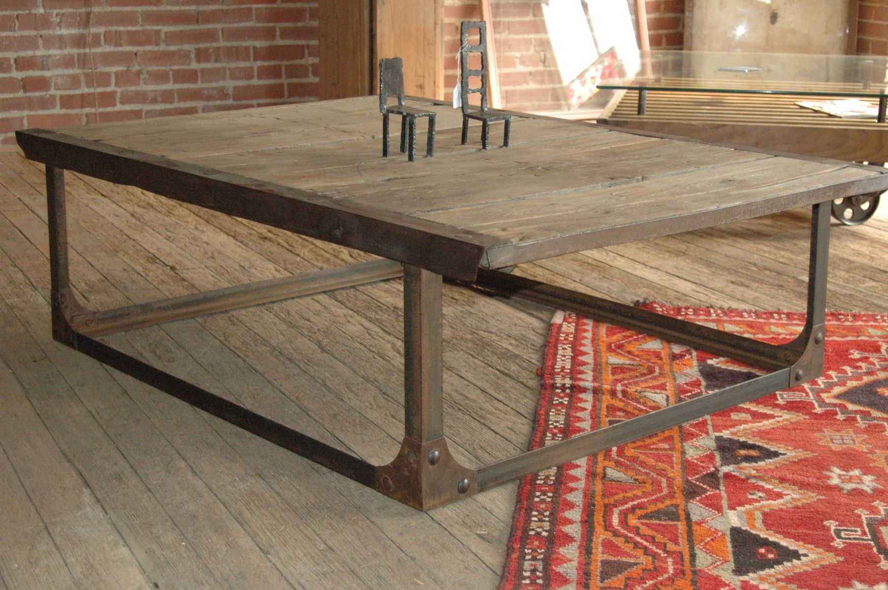 Hand Made Industrial Coffee Table by Tecklenburg Design