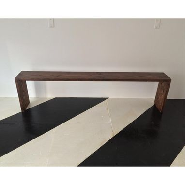 Custom Made Rustic Waterfall Bench