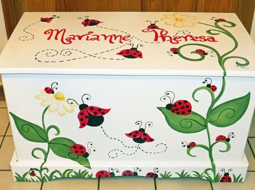 Custom Made Ladybug Toy Box Custom Designed For You