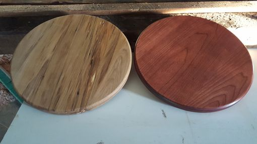 Custom Made Cherry And A Rustic Maple Lazy Susan