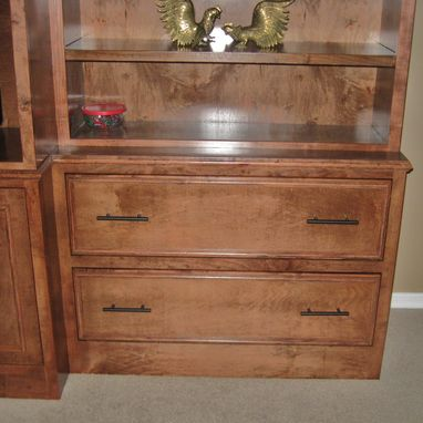 Custom Made Birch Entertainment Cabinet