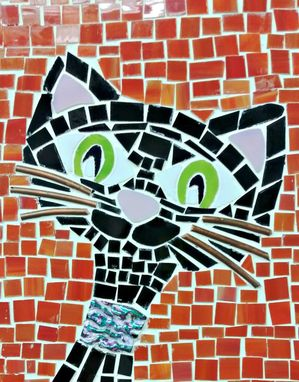 Custom Made Mosaic Retro Cat  (G-27)
