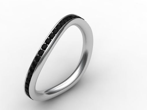 Custom Made Black Onyx And Silver Ring