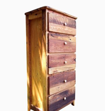 Custom Made Tall Dresser From Antique Barnwood And Reclaimed Wormy Chestnut