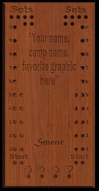 Custom Made Euchre & Smear Card Game Scoreboard