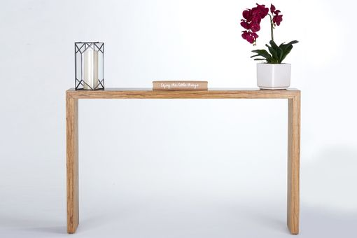 Narrow Foyer Jewelry : Hand crafted waterfall console table entryway