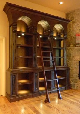 Custom Made Hickory Library