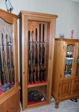 hand made gun cabinet by port wood works custommade com 11536 | 11536 66459