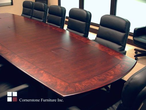 Custom Made Maple Burl Border Custom Conference Table