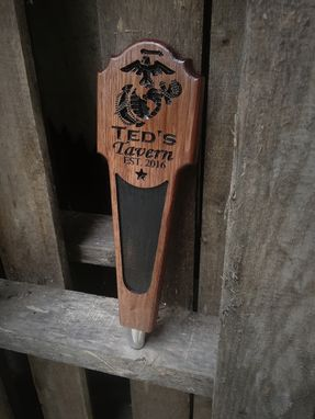 Custom Made Custom Beer Tap Handle With Chalkboard Insert