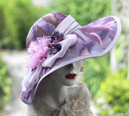 Custom Made Couture Designer Formal Kentucky Derby Race Hat Wide Brim