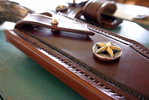 Handmade Custom Leather Knife Sheath By Strong Horse