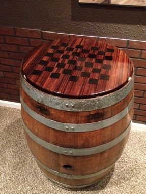 Custom Made Checkerboard Game Table