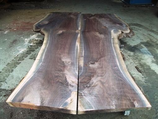 Custom Made Live Edge Black Walnut Slabs Ready For A Custom Table Top