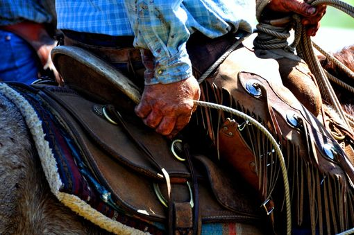 Custom Made Fine Art Photograph Of Cowboy's Weathered Hand