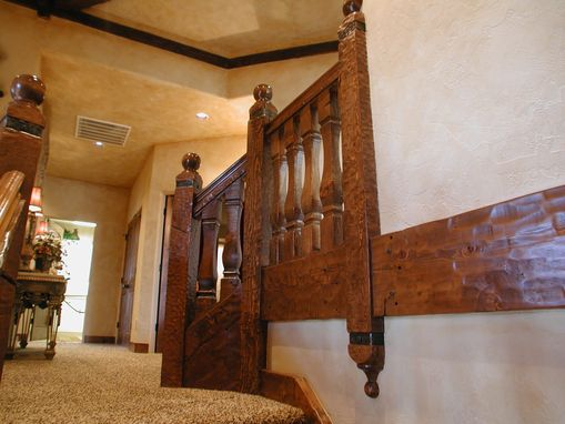 Custom Made Rustic Reclaimed Timber Stair