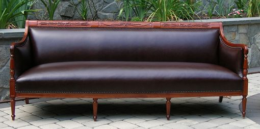 Custom Made Boston Mahogany Sofa