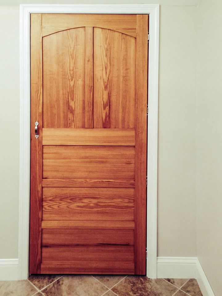 Custom Made Yellow Pine Interior Door By Red Acorn