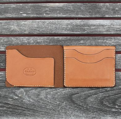Custom Made Sophisticated Leather Wallet In Whiskey Color