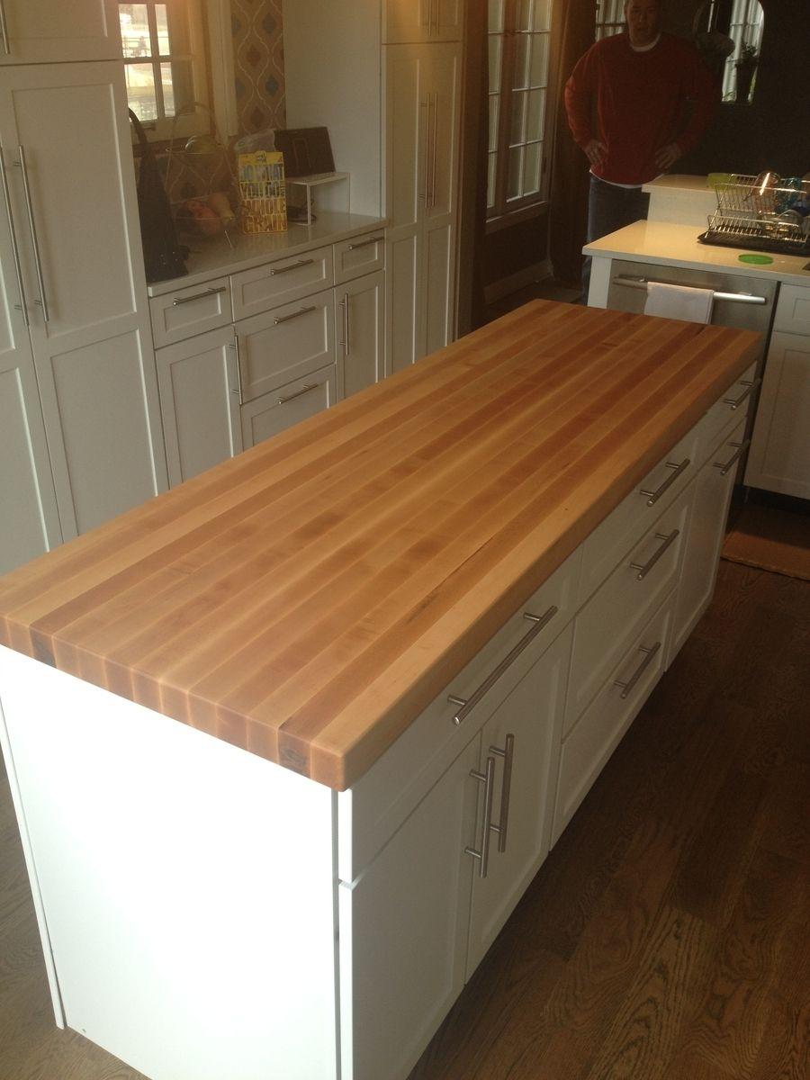 custom made butcherblock island countertop by a e fine