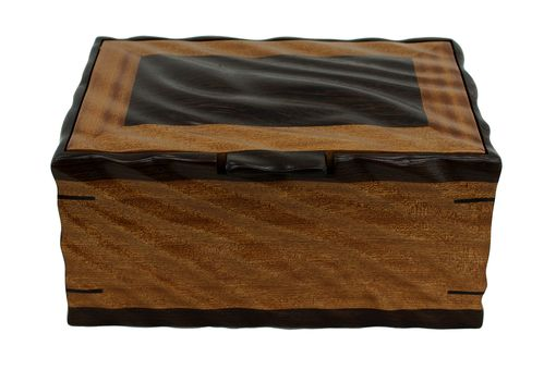 Custom Made Sculpted Men's Valet & Watch Box | Solid Sapele And Wenge