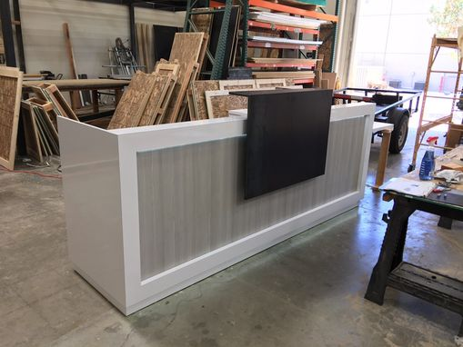Custom Made #1 Gloss White Reception Counter With Led Light