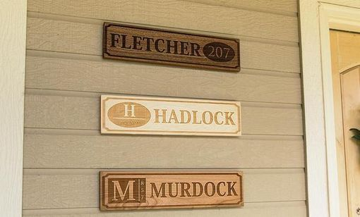 Custom Made Personalized Wooden House Signs