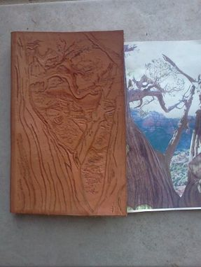 Custom Made Custom Tooled Leather Book Cover