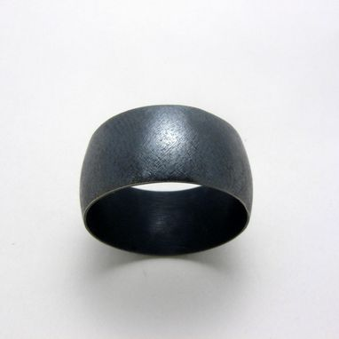 Custom Made Oxidized Sterling Silver Unisex Wide Band Havanero Ring By Cristina Hurley