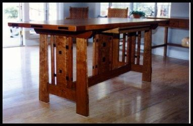 Custom Made Craftsman Style Furnishings - Tables.