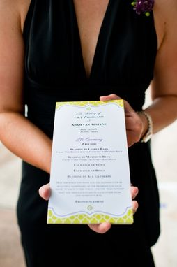 Custom Made Wedding Programs, Luxe Style, Custom Designed For Your Ceremony