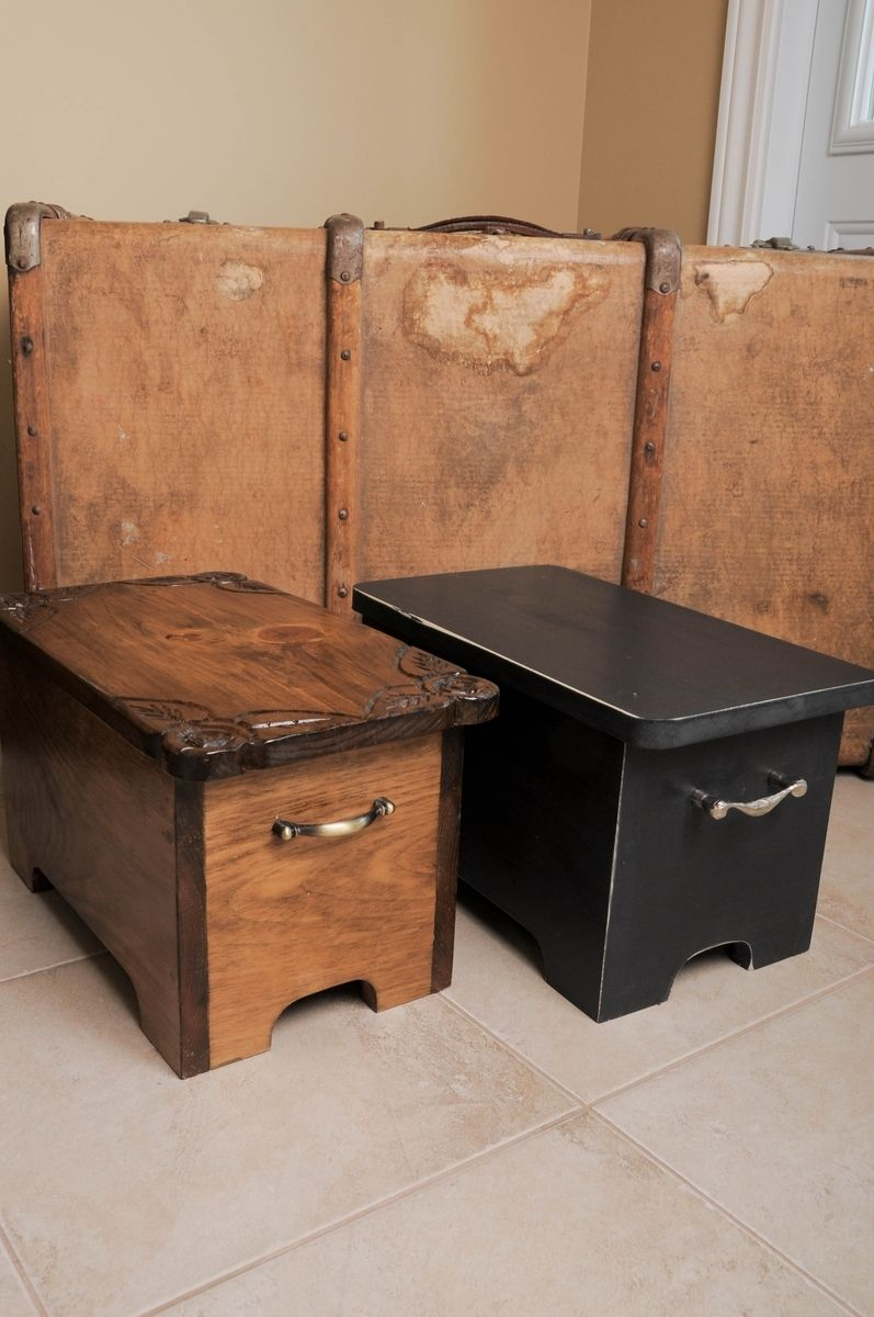 Hand Made Storage Boxes Stepping Stools Box Bench By