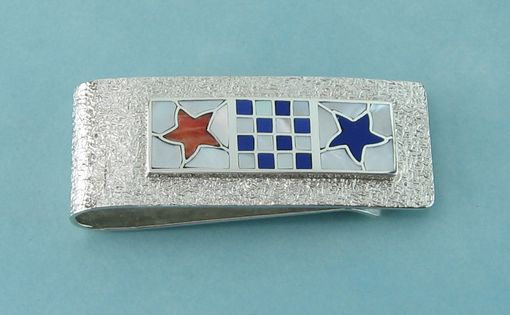 Custom Made Money Clip With Nautical Flag Initials