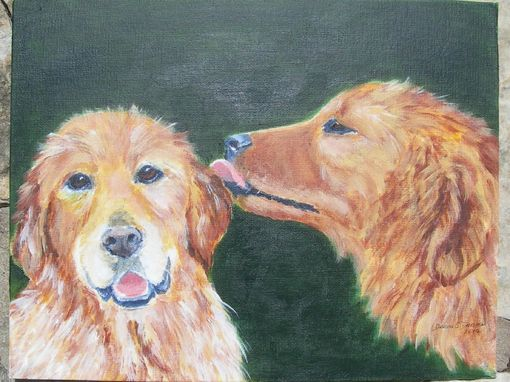 Custom Made Ginger And Wilson-- Custom Golden Retrievers Pet Portrait